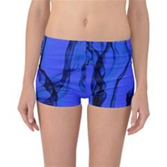 Blue Velvet Ribbon Background Reversible Bikini Bottoms