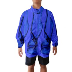 Blue Velvet Ribbon Background Wind Breaker (Kids)
