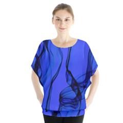 Blue Velvet Ribbon Background Blouse