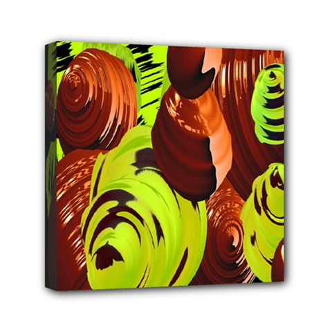 Neutral Abstract Picture Sweet Shit Confectioner Mini Canvas 6  x 6