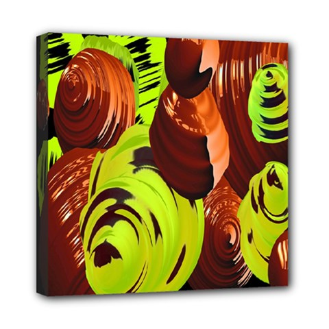 Neutral Abstract Picture Sweet Shit Confectioner Mini Canvas 8  X 8