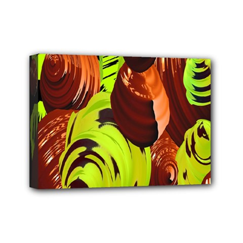 Neutral Abstract Picture Sweet Shit Confectioner Mini Canvas 7  x 5