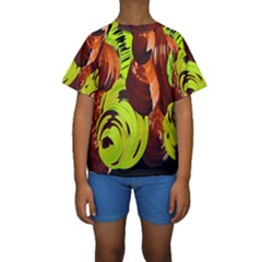 Neutral Abstract Picture Sweet Shit Confectioner Kids  Short Sleeve Swimwear