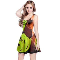 Neutral Abstract Picture Sweet Shit Confectioner Reversible Sleeveless Dress