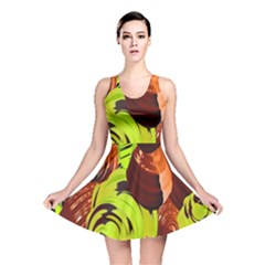 Neutral Abstract Picture Sweet Shit Confectioner Reversible Skater Dress