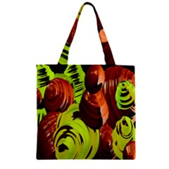 Neutral Abstract Picture Sweet Shit Confectioner Zipper Grocery Tote Bag