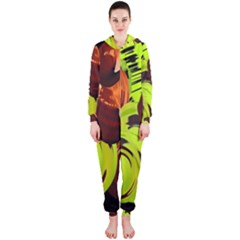 Neutral Abstract Picture Sweet Shit Confectioner Hooded Jumpsuit (Ladies)