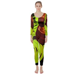 Neutral Abstract Picture Sweet Shit Confectioner Long Sleeve Catsuit