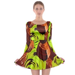 Neutral Abstract Picture Sweet Shit Confectioner Long Sleeve Skater Dress
