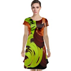 Neutral Abstract Picture Sweet Shit Confectioner Cap Sleeve Nightdress