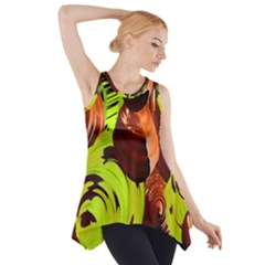 Neutral Abstract Picture Sweet Shit Confectioner Side Drop Tank Tunic
