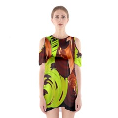 Neutral Abstract Picture Sweet Shit Confectioner Shoulder Cutout One Piece