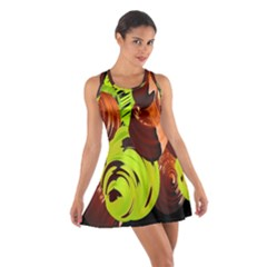 Neutral Abstract Picture Sweet Shit Confectioner Cotton Racerback Dress