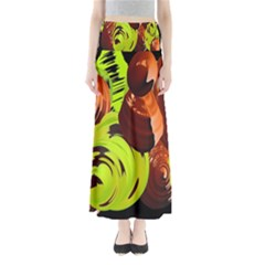 Neutral Abstract Picture Sweet Shit Confectioner Maxi Skirts
