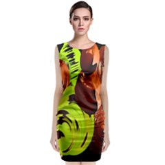 Neutral Abstract Picture Sweet Shit Confectioner Classic Sleeveless Midi Dress