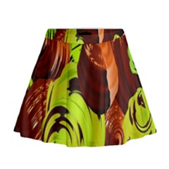 Neutral Abstract Picture Sweet Shit Confectioner Mini Flare Skirt