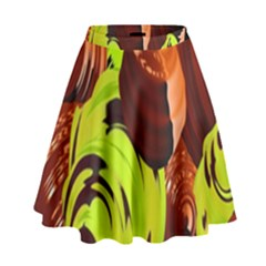 Neutral Abstract Picture Sweet Shit Confectioner High Waist Skirt