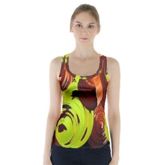 Neutral Abstract Picture Sweet Shit Confectioner Racer Back Sports Top