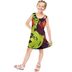 Neutral Abstract Picture Sweet Shit Confectioner Kids  Tunic Dress