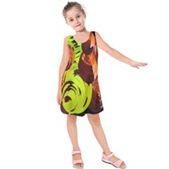Neutral Abstract Picture Sweet Shit Confectioner Kids  Sleeveless Dress