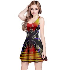 Diamond Manufacture Reversible Sleeveless Dress