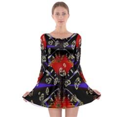 Diamond Manufacture Long Sleeve Skater Dress