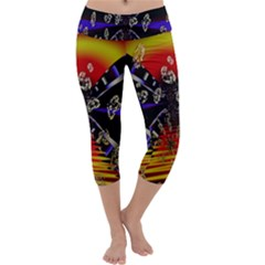 Diamond Manufacture Capri Yoga Leggings