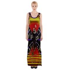 Diamond Manufacture Maxi Thigh Split Dress