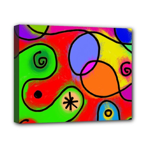 Digitally Painted Patchwork Shapes With Bold Colours Canvas 10  X 8