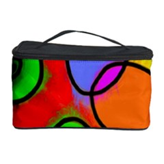 Digitally Painted Patchwork Shapes With Bold Colours Cosmetic Storage Case
