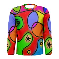 Digitally Painted Patchwork Shapes With Bold Colours Men s Long Sleeve Tee