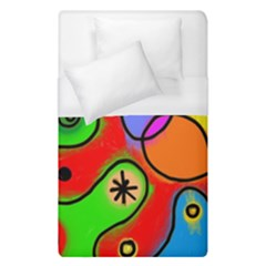 Digitally Painted Patchwork Shapes With Bold Colours Duvet Cover (single Size)