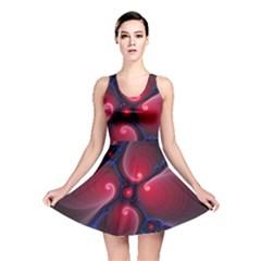 Color Fractal Pattern Reversible Skater Dress