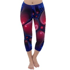 Color Fractal Pattern Capri Winter Leggings