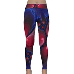 Color Fractal Pattern Classic Yoga Leggings