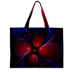 Color Fractal Pattern Zipper Mini Tote Bag