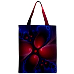 Color Fractal Pattern Zipper Classic Tote Bag
