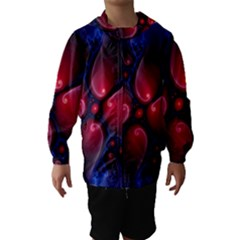 Color Fractal Pattern Hooded Wind Breaker (kids)