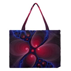 Color Fractal Pattern Medium Tote Bag
