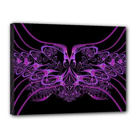 Beautiful Pink Lovely Image In Pink On Black Canvas 16  x 12