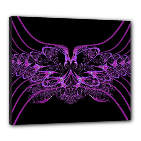 Beautiful Pink Lovely Image In Pink On Black Canvas 24  X 20