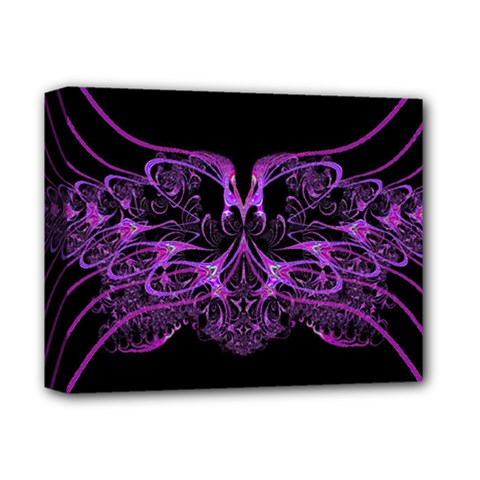 Beautiful Pink Lovely Image In Pink On Black Deluxe Canvas 14  X 11