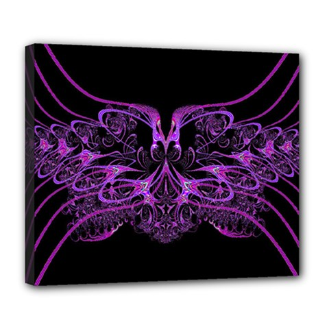 Beautiful Pink Lovely Image In Pink On Black Deluxe Canvas 24  X 20