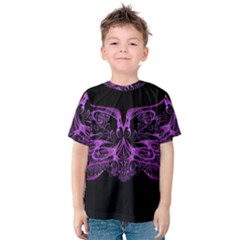 Beautiful Pink Lovely Image In Pink On Black Kids  Cotton Tee