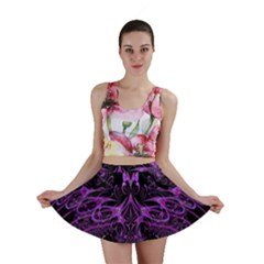 Beautiful Pink Lovely Image In Pink On Black Mini Skirt