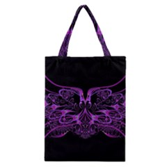 Beautiful Pink Lovely Image In Pink On Black Classic Tote Bag