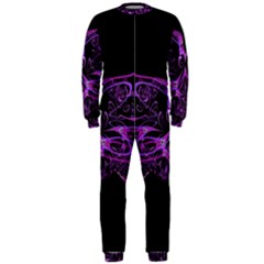 Beautiful Pink Lovely Image In Pink On Black OnePiece Jumpsuit (Men)