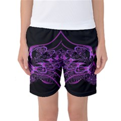 Beautiful Pink Lovely Image In Pink On Black Women s Basketball Shorts