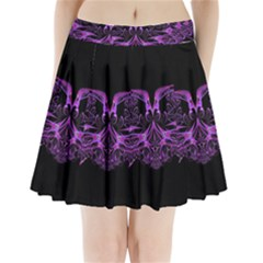 Beautiful Pink Lovely Image In Pink On Black Pleated Mini Skirt