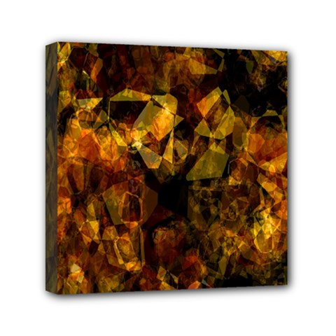 Autumn Colors In An Abstract Seamless Background Mini Canvas 6  X 6